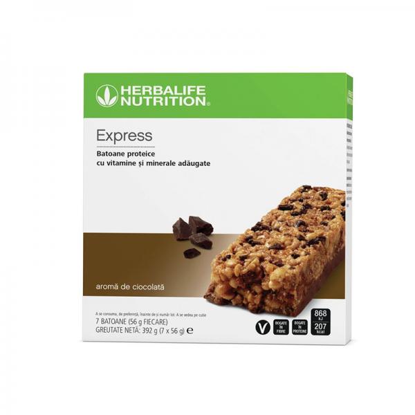 Baton Proteic Herbalife Express Ciocolată 7 batoane per cutie