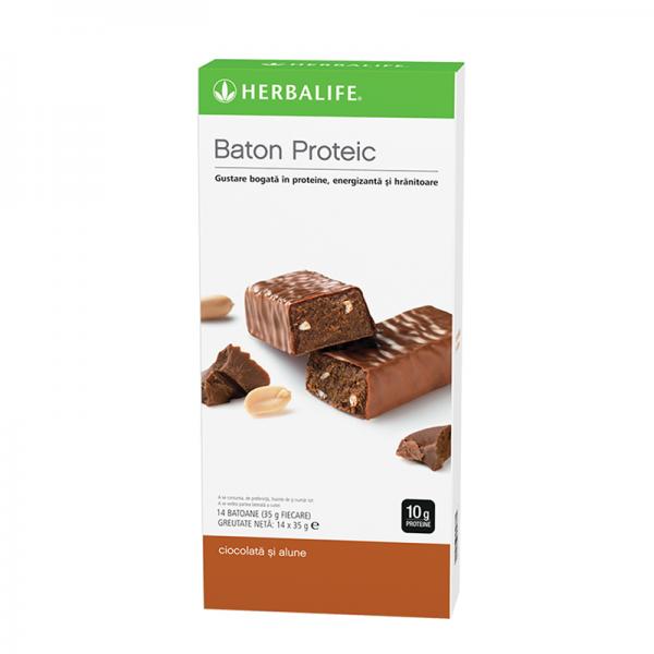 Batoane Proteice Herbalife Ciocolată și alune 14 batoane per cutie