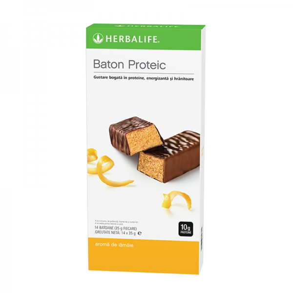 Batoane Proteice Herbalife Lămâie 14 batoane per cutie