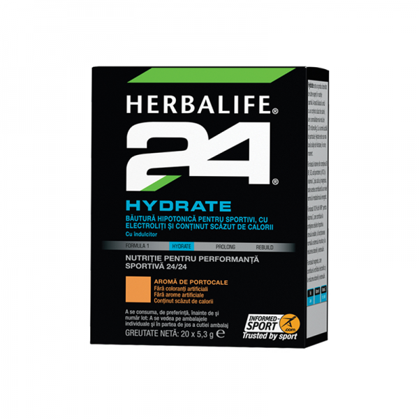 Herbalife H24 Hydrate Portocaliu 20 de pachete