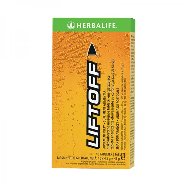 Herbalife LiftOff Efervescent Băutură energizantă Portocaliu 10 tablete
